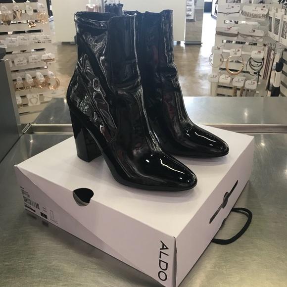436db41fe39 Aldo Shoes - ALDO Aurella Patent Leather Sock boots